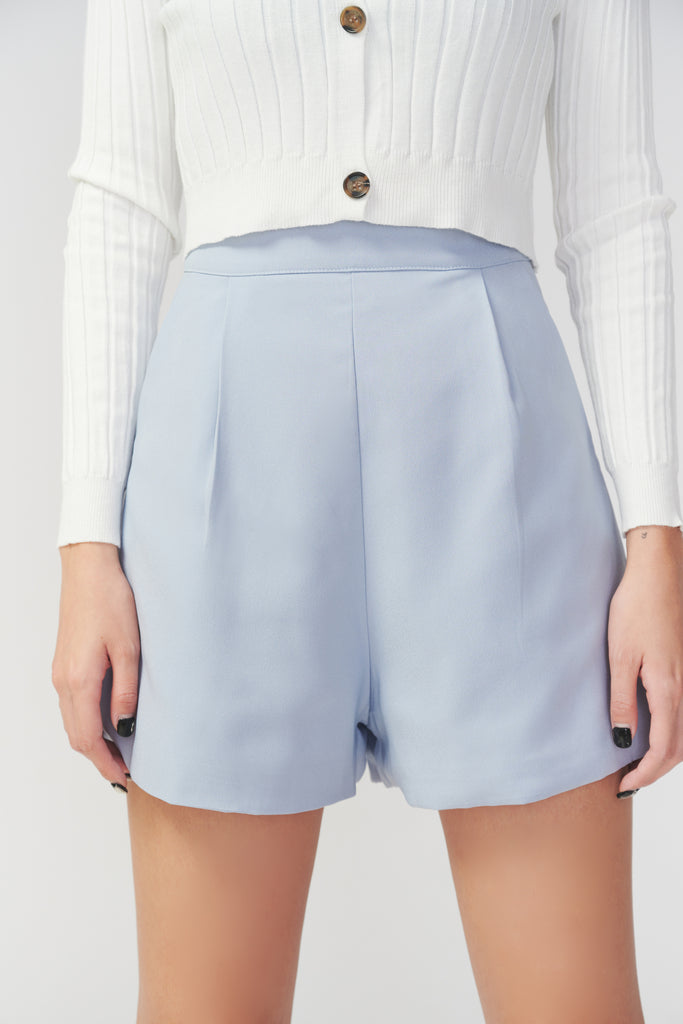 Rush hours chiffon shorts in blue