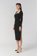(Pre-order) Marilyn Monroe over the knee dress in black