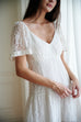Favorite flavor V- neck lace maxi dress in white