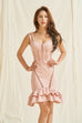 Sweet Sweet satin dress in pink