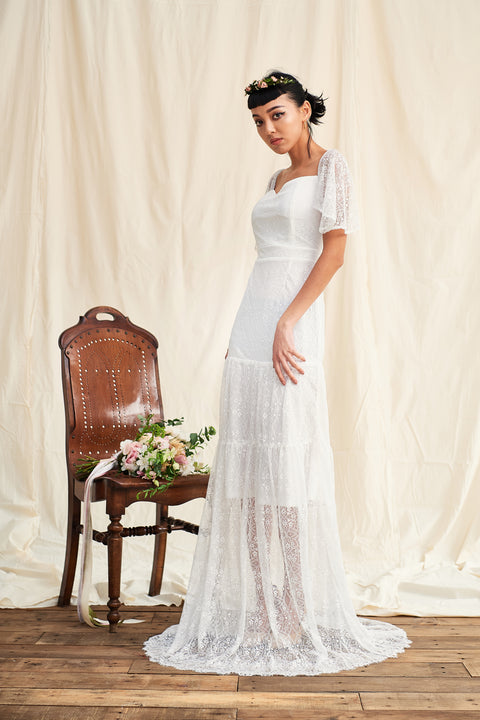 All Yours two ways lace gown