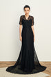 Love To Be Loved By You lace gown in black