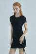 Be your muse elastic strap dress in black