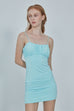 Take me out elastic dress in blue