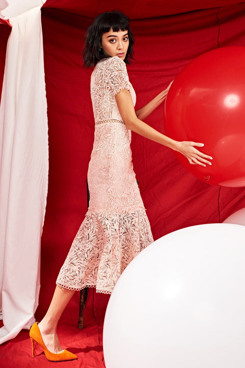 Dream land two ways lace dress in pink