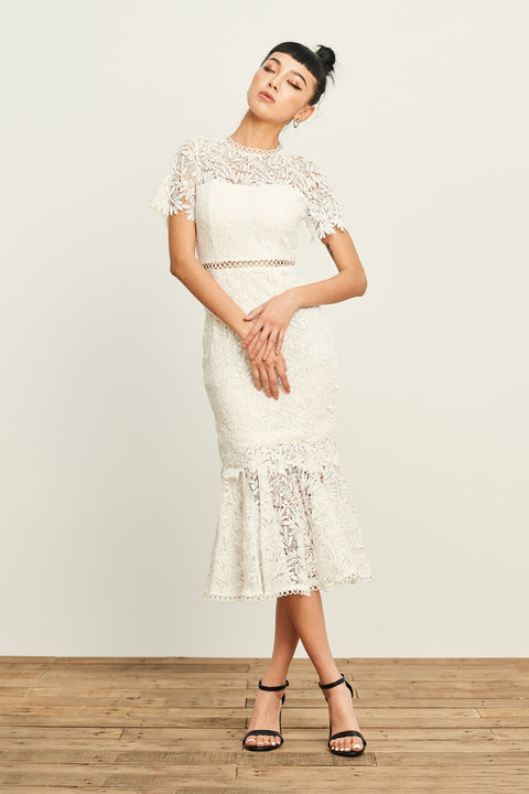 Dream land two ways lace dress in white