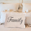 Family Pillow with brown front