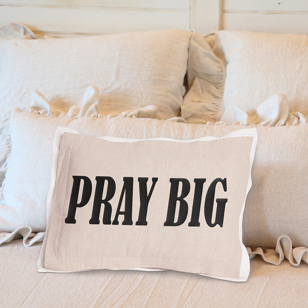 Pray Big Tan On Bed