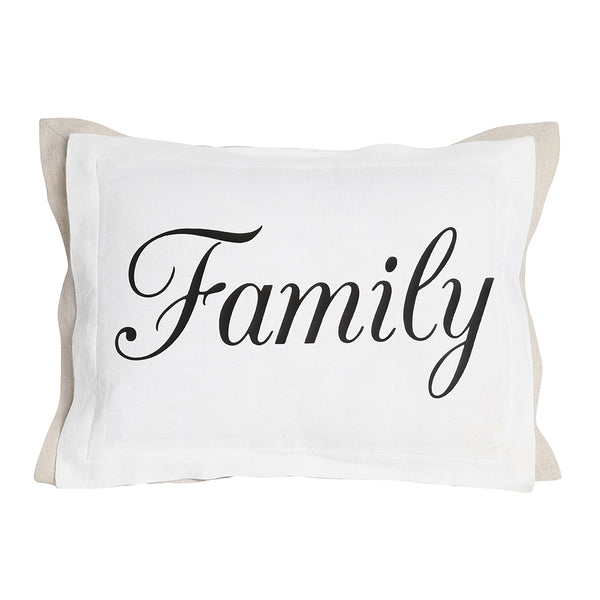 Family Pillow with white front