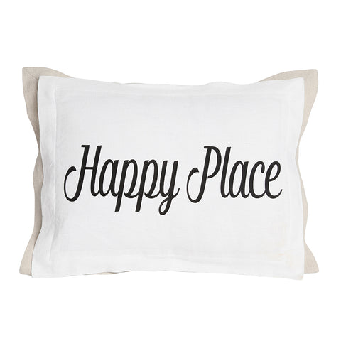 Happy Place Pillow with Insert