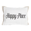 Happy Place pillow on white front