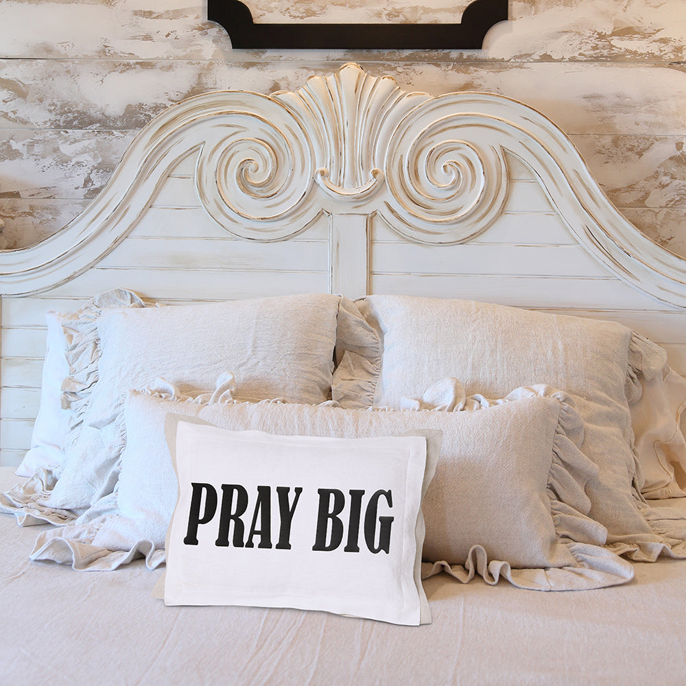 Pray Big white on Bed