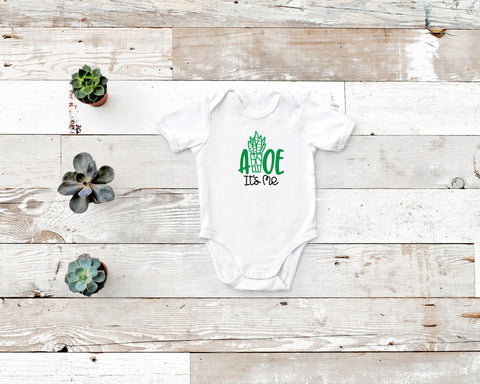 Aloe It's Me Rabbit Skin Body Suit for Baby in White with Green and Black Image