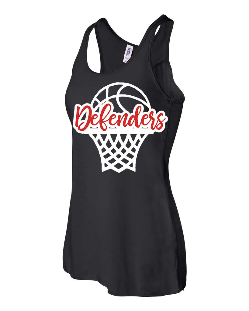 Defenders Basketball Net Spirit Wear T-Shirt -Bella Canvas Flowy Racer Back Tank