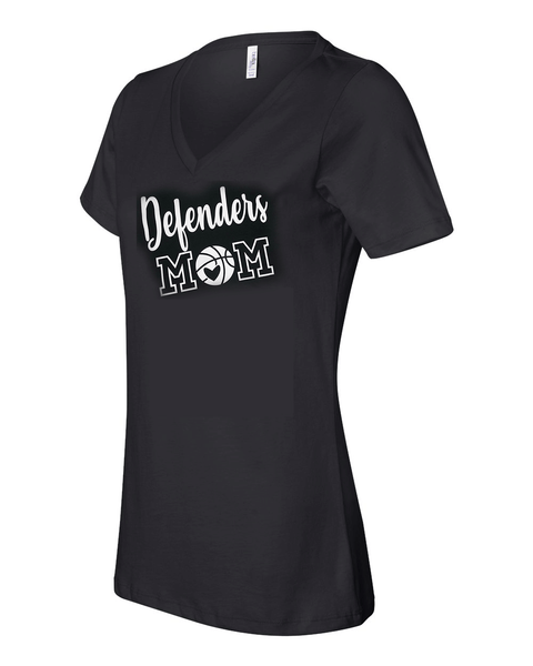 Defenders Basketball Mom Spirit Wear  T-Shirt -Bella Canvas Women's V-Neck