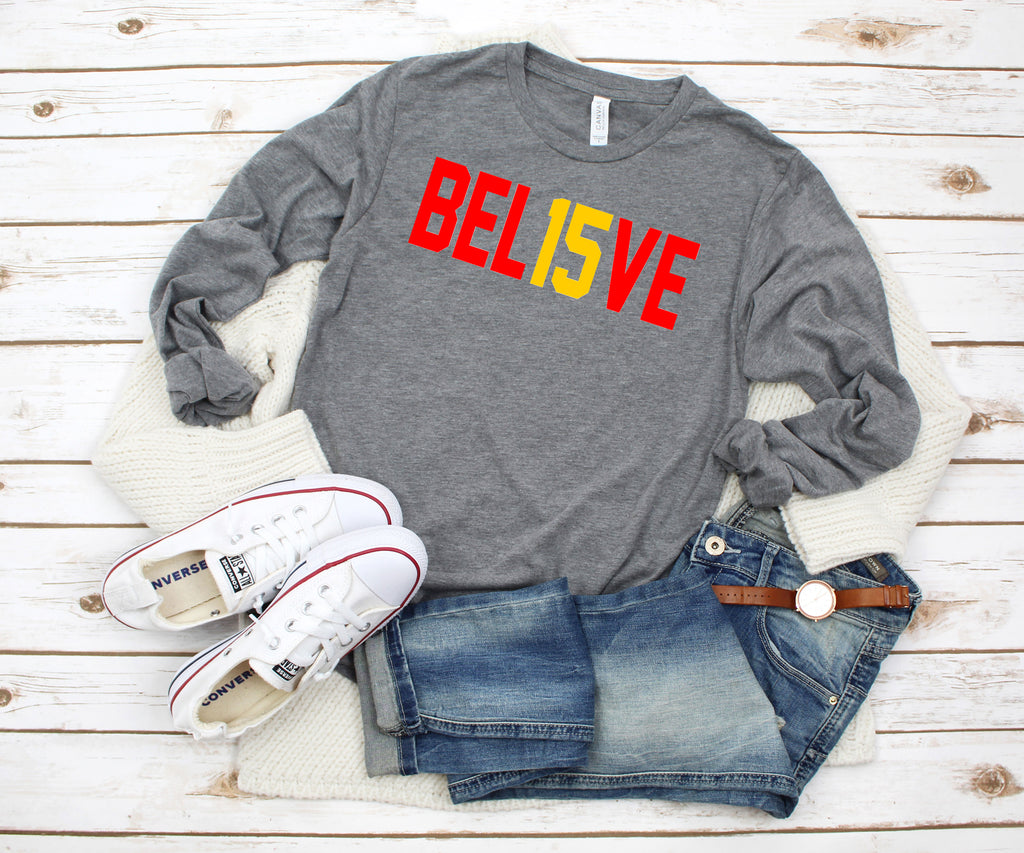 BEL15VE Kansas City Chiefs Tee Shirt