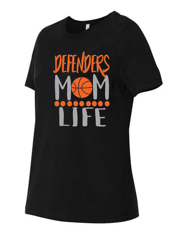 Defenders Mom Life Basketball Spirit Wear Fruit of the Loom - Softspun Crewneck T-Shirt