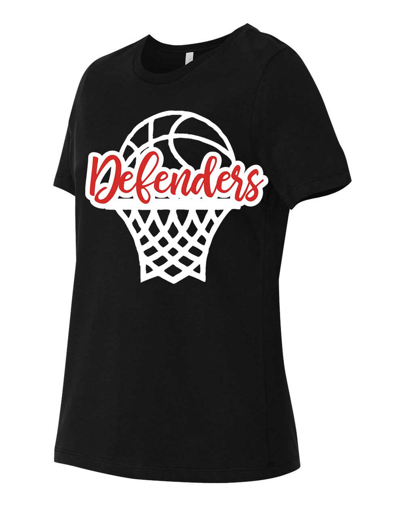 Defenders Basketball Net Spirit Wear T-Shirt -Bella Canvas Women's T-Shirt