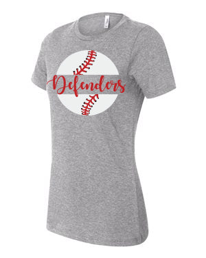 Defenders Baseball 2019 New Spirit Wear T-Shirt -Bella Canvas Women's T-Shirt