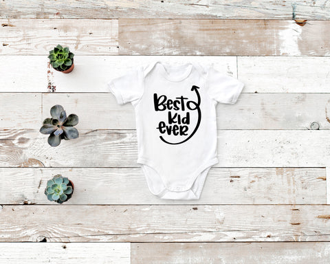 Best Kid Ever Rabbit Skin Body Suit in Gray, White or Black
