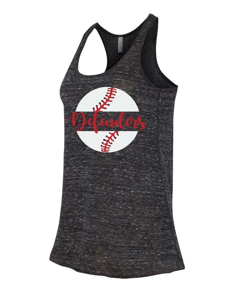 Defenders Baseball New 2019 Spirit Wear T-Shirt -Bella Canvas Flowy Racer Back Tank