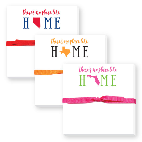There's No Place Like Home Featuring Your State Notepad