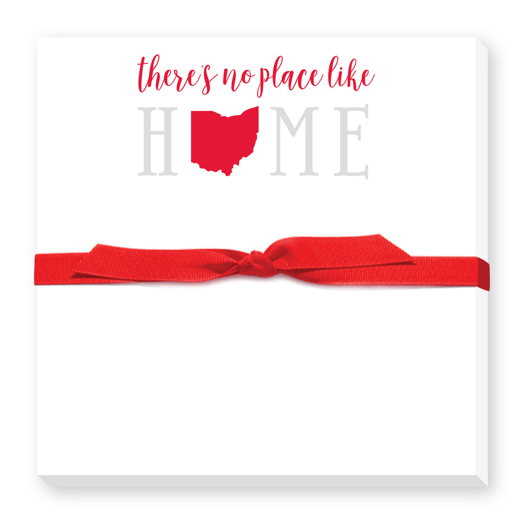 There's No Place Like Home Featuring Your State Notepad in Red and Gray