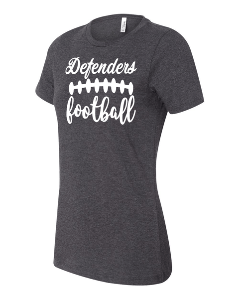 Defenders Football Laces  Spirit Wear T-Shirt -Bella Canvas Women's T-Shirt