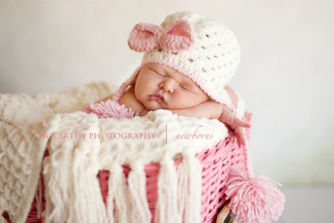 Ellie May Crochet Hat for Newborn Photoshoot