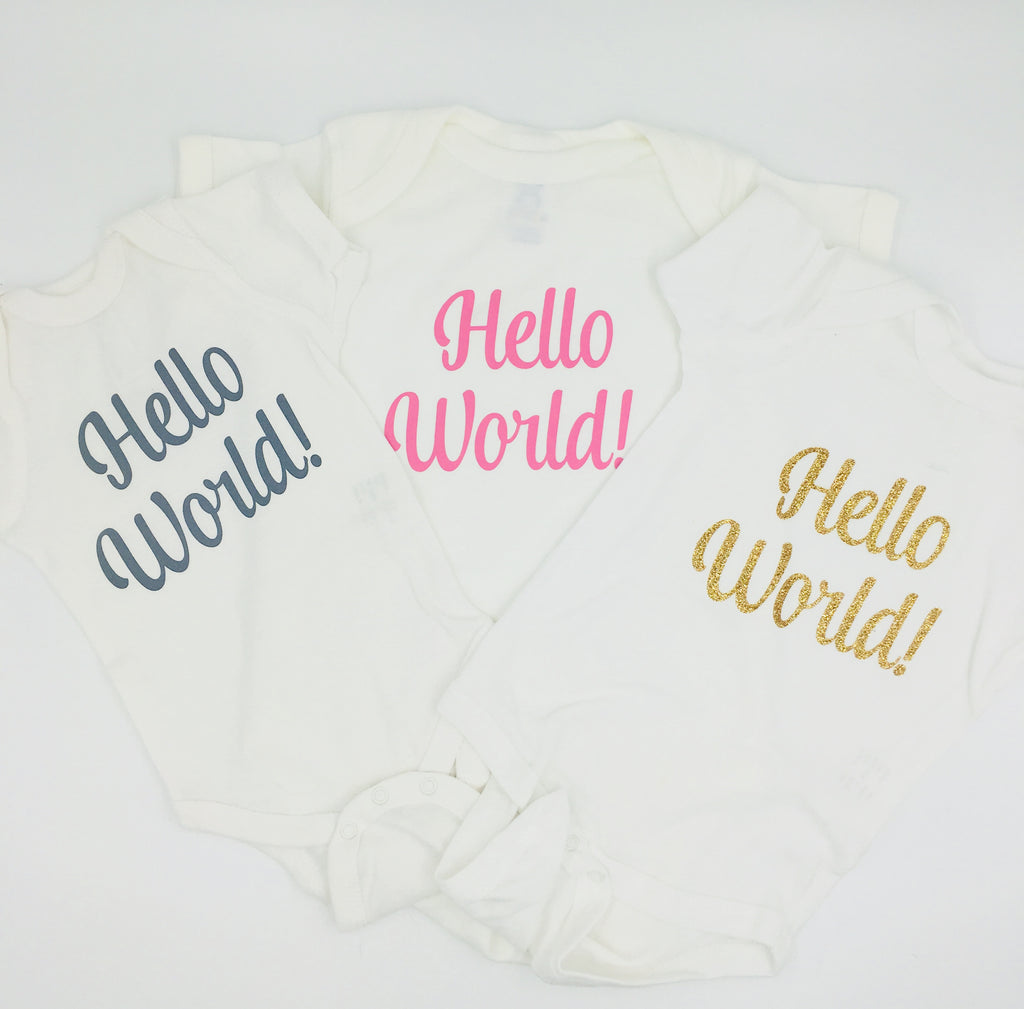 Hello World Onesies