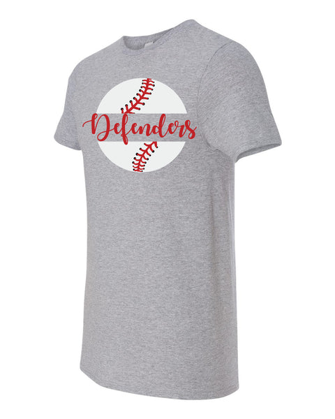 Defenders Baseball New 2019 Spirit Wear Fruit of the Loom - Unisex Softspun Crewneck T-Shirt