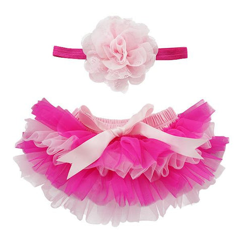 Hot Pink Tutu Bloomer and Headband Set