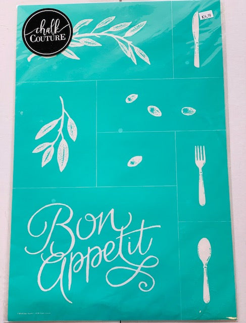 Bon Appetit Chalk Couture Transfer