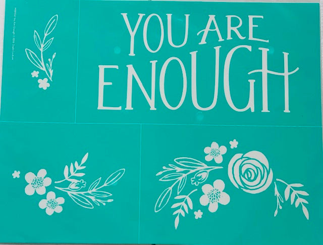 You Are Enough Chalk Couture Transfer