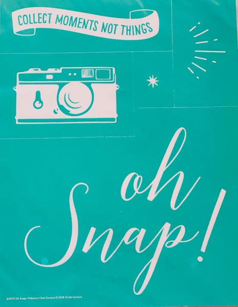 Oh Snap! Chalk Couture Transfer