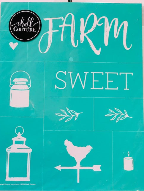 Farm Sweet Farm Chalk Couture Transfer