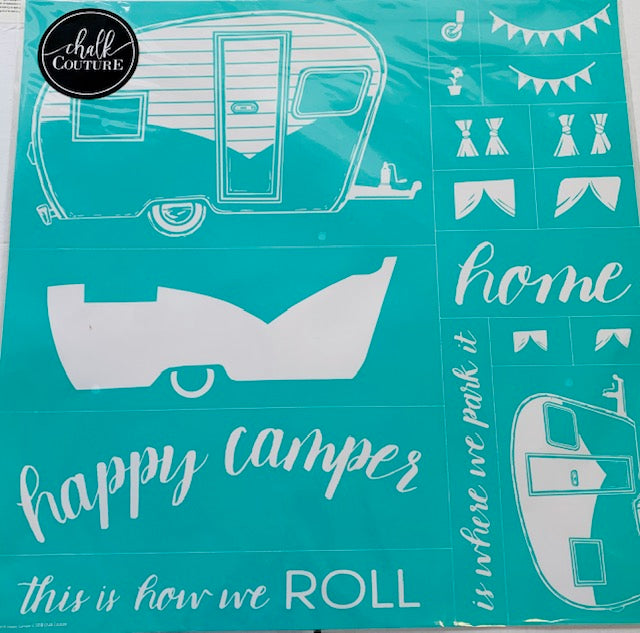 Happy Camper Chalk Couture Transfer
