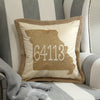 State Zip Code Pillow Cover with Zip Code and City