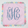 "Pink 26"" Seersucker Monogrammed Pillow"