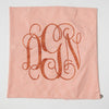 Orange Seersucker Monogram Pillow