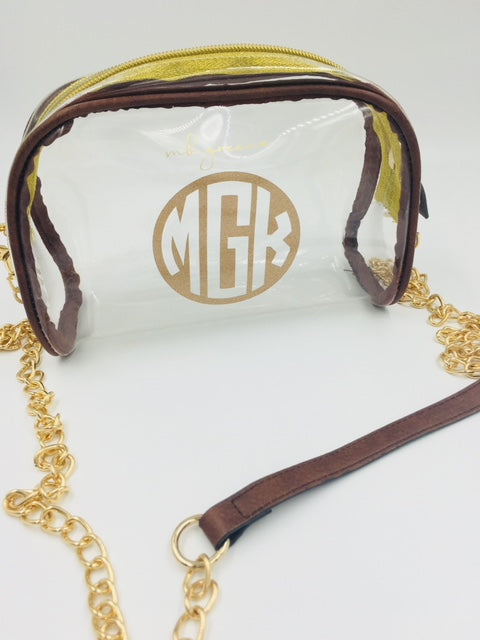 Monogrammed Clear Purse