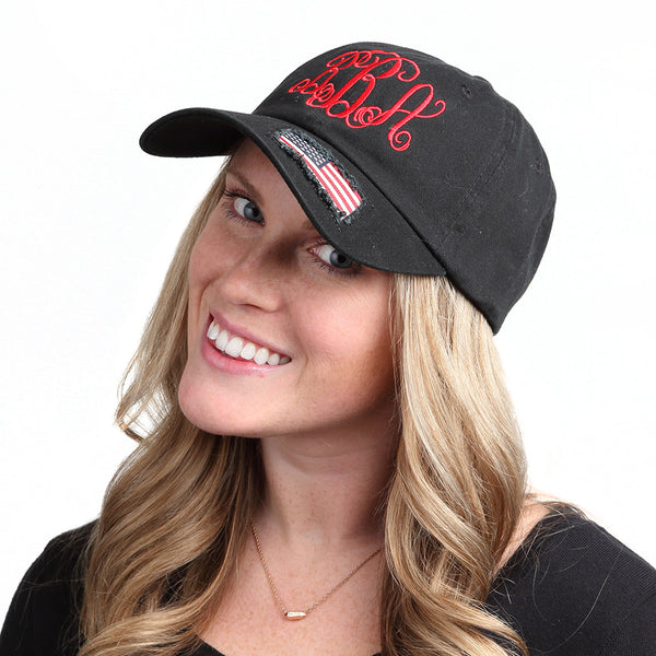 Black Flag Hat on Model