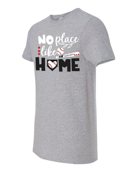 There's No Place Like Home Defenders Baseball Fruit of the Loom - Soft spun Crewneck T-Shirt