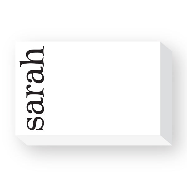 First name note pad