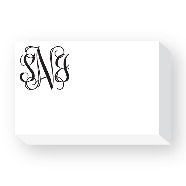 3 letter initials notepad