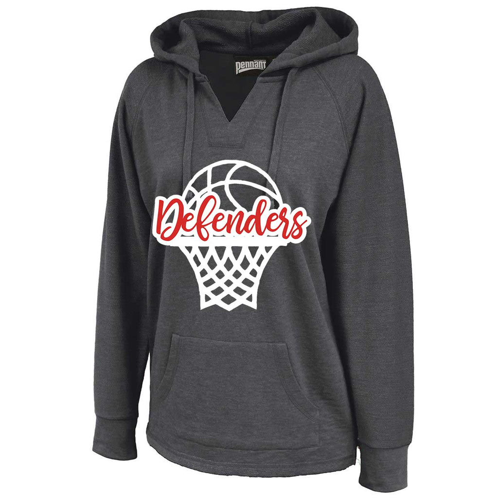 Defenders Basketball Sweatshirt -Pennant Sportswear Women's Volley Hoodie Black