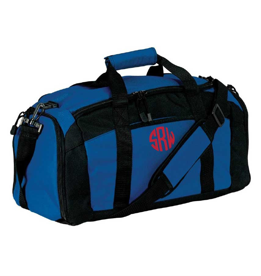 Black Monogrammed Gym Bag