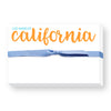Orange and Blue State Notepad
