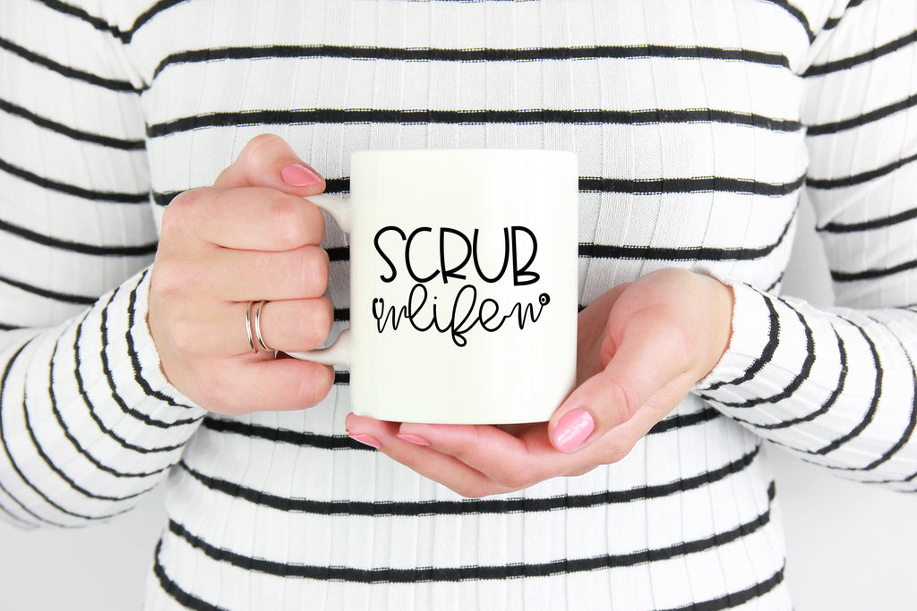 Scrub Life Coffee Mug with model