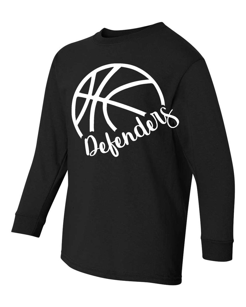 Defenders Side Basketball Spirit Wear  Gildan Heavy Cotton-Long Sleeve YOUTH SIZES